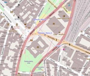 Ukázka OpenStreetMap mapy