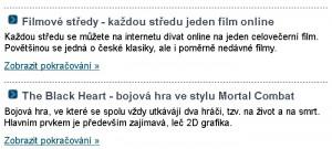 Perex ze serveru Zdarma.org